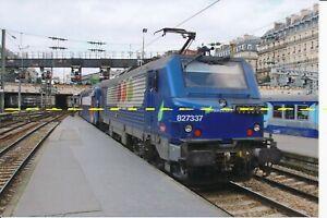 Farb-Foto SNCF E-Lok 827337 Paris St. Lazare 2014