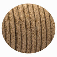3 Core Round Vintage Italian Braided Fabric Cable Flex 0.75mm Hemp UK