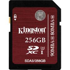 256gb Kingston SD XC Memory Card Class 10 U3 for 4k HD Video