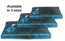 Sweet Dreams  Blue and Grey Waterproof Pet Dog Bed Cushion - 3 Sizes Available