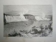 gravure 19° Chute du Niagara Canada