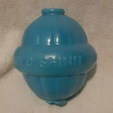 Vintage W C Shinn Blue Glass Lightning Rod Globe Ball Lincoln Neb