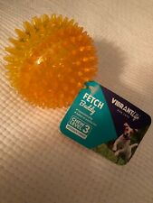 Vibrant Life Fetch Buddy Spike Ball Dog Toy, Medium, Chew Level 3 Assorted Color