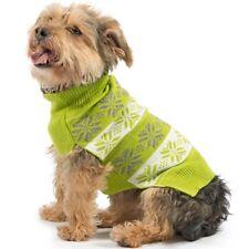 Ancol Muddy Paws Warm Stylish Nordic Dog Puppy Jumper Sweater Green Small