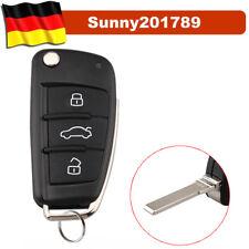 3 Tasten Klappschlüssel Gehäuse für Audi A1 A3 A4 A6 A8 Q7 Autoschlüssel Rohling