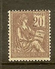 """FRANCE STAMP TIMBRE N° 113a """" TYPE MOUCHON 20c BRUN LILAS, CHIFFRES """" NEUF xx TB"""