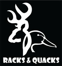 Hunting decal, racks & quacks sticker, duck decal, deer decal, hunting sticker