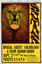SANTANA ELVIN BISHOP 1971 Ft Worth Concert Poster