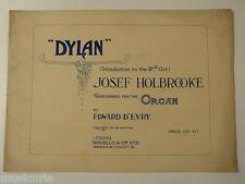 Órgano Josef Holbrooke Dylan, introducción a actuar 2