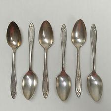 Oneida Adam Community Plate Tea Spoons Lot of 6, Silverplate Flatware Silverware