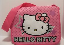 Purse Hello Kitty Pink Nylon Book Bag Tote Shoulder Crossboduy Soft NWT L116