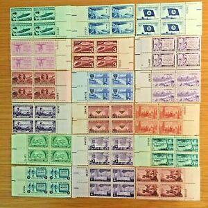 US,MNH,1950'S,18 PLATE BLOCKS COLLECTION,POST WW2, MINT NH,OG