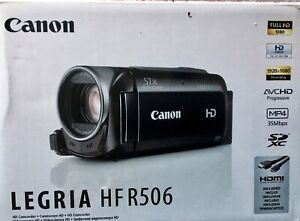 Canon Legria HF R506 Camcorder | Original box + Documentation
