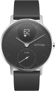 NEW Withings HWA0336BLACKN Steel HR Fitness Watch 36mm (Black)