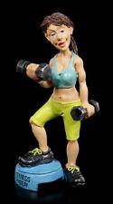 Funny Sports Figur - Fitness Queen mit Gewichten - Lustiger Sport Dekostatue