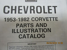 CORVETTE 1953-1982 PARTS & ILLUSTRATION MANUAL