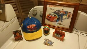 NICE Lot Jeff Gordon NASCAR Racing Signed Baseball Cap Die Cast Car Photo Extras