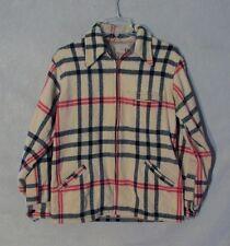 Z8955 Men's Vintage 1950's The Men's Shop Wool Plaid Full Zip Jacket
