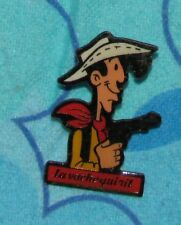 LUCKY LUKE COWBOY Pin VINTAGE PINS LA VACHE QUI  RIT FRENCH