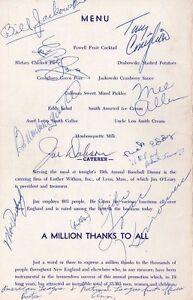 Tony Conigliaro Boston Red Sox Signed Autograph 1967 4/15 NH Dinner Program +7