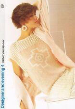 Côtelé joug Slip-Over Knitting Pattern-Marshall Cavendish brochure DE4