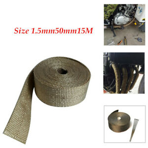 15M Motorcycle Exhaust Temperature 900° Insulation Glass Fiber Tape Fixed ties