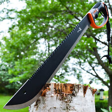 "25"" SURVIVAL HUNTING Sawback Military FULL TANG MACHETE Fixed Blade Knife SWORD"