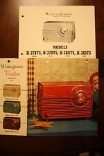 Westinghouse 1950's Radio Ad (4 Color Models) Service Notes, Parts, Schematics