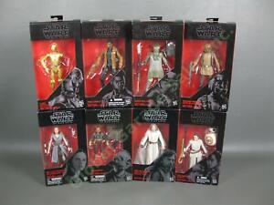 "8 NEW Star Wars Black Series Resistance Rey Finn BB-8 Luke 6"" Figure Set Hasbro"