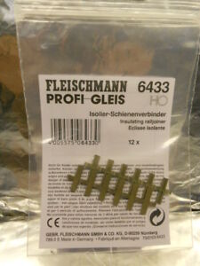 * Fleischmann 6433 HO Profi Isolating Joiner Pack of 12 Pieces