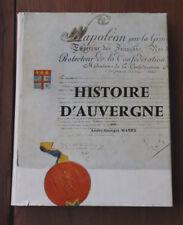 1966 Histoire d'Auvergne Manry éditions volcans Clermont-Ferrand envoi