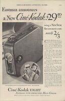 1932 Vintage Ad Cine Kodak Eight Eastmans New Movie Camera