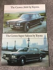 Toyota Crown 2600 Super Saloon and crown 1978-79 UK Market Foldout Brochure