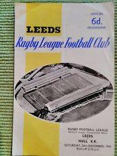 LEEDS v HULL KR RUGBY LEAGUE PROGRAMME - 24 DECEMBER 1966