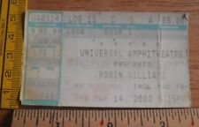 Robin Williams 2002 Universal Ampitheatre concert ticket