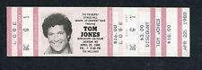 1988 Tom Jones unused full concert ticket Jackson MS It's Not Unusual