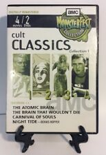 AMC Monsterfest DVD Horror Cult Classics Atomic Brain Carnival Of Souls OOP