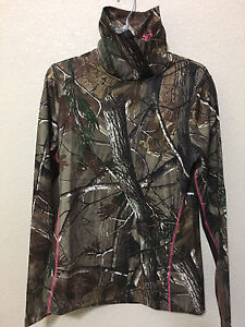 NWT WOMEN UNDER ARMOUR 1247091 340 EVO SCENT CAMO CG INFRARED FITTED TOP $80