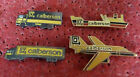 LOT 4 PIN'S TRANSPORT CALBERSON CAMION BATEAU AVION EGF