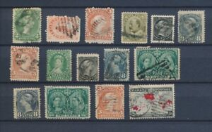 CANADA : Lot of 15 very old Stamps . Good used stamps High CV$420 A2057