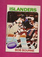1975-76 OPC # 163 ISLANDERS BOB BOURNE  ROOKIE VG CARD (INV#7182)