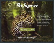 Guyana 2017 MNH Jaguar National Animal 1v S/S Big Cats Wild Animals Stamps