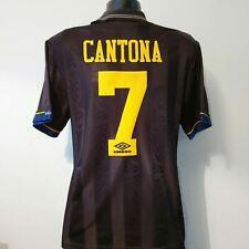 CANTONA 7 Manchester United Shirt - Large - 1993/1995 - Away Jersey Sharp
