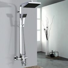 Bath Shower Mixer Faucet Rotate Tub Spout Wall Mount Rainfall Showers System Set