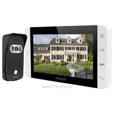 HOMSECUR 7'' Colour LCD Video Door Access Intercom 110° Wide View Black Camera