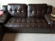 used brown leather sofa 3 2