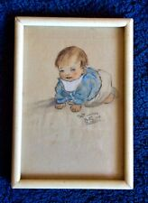 Betty Paterson Baby drawing pencil caricature portrait 1920s - 1940s