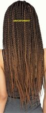 LONG BLACK AUBURN BOX BRAIDED FULL LACE FRONT WIG POETIC JUSTICE HAIR PIECE