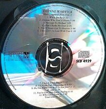 Her Greatest Hits by Dionne Warwick (CD, Pair) Disc and art only! No case.