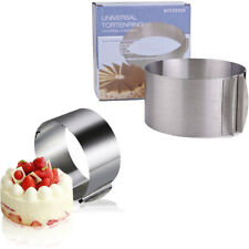 "6""-12"" Round Circle Cake Fondant Mousse Cutter Ring Mold Mould Extendable"
